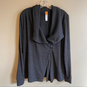 Lucy large charcoal gray cardigan